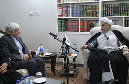 The photoreport of the meeting of Messrs. aref with Grand Ayatollah Saanei